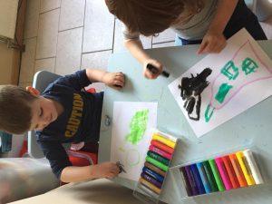 Amber en Arno creatief met de Paintsticks!