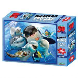 Prime 3D puzzel Oceaan selfie (48 stuks) (1)