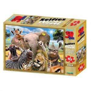 Prime 3D puzzel Selfie Africa (63 stuks) (1)