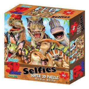 Prime 3D puzzel Selfie dino (63 stuks) (1)