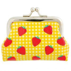 clip portemonnee aardbeien