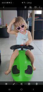 Ons meisje van 2 jaar op de Didicar