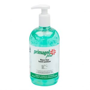 Primagel+ handgel 500ml bevat 65% alcohol