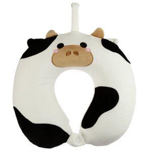relaxeazzz koe pluche Memory foam netkussen voorkant