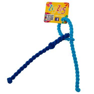 zig zag maxi voor dikke haren 2 tinten blauw