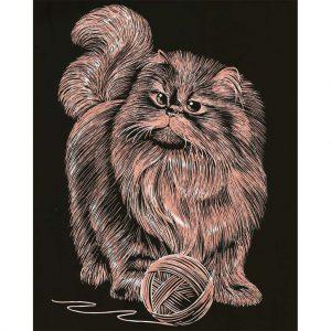 1329 Artfoil Copper Persian Cat