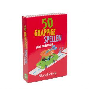 Kaartspel doosje 50 grappige spellen voor onderweg
