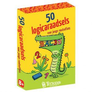 Kaartspel doosje 50 logicaraadsels voor jonge raadselfans
