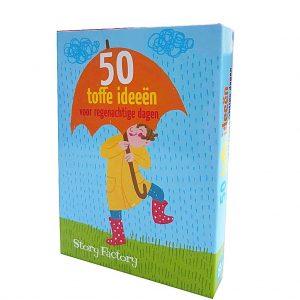 Kaartspel doosje 50 toffe ideeën voor regenachtige dagen