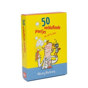 Kaartspel doosje 50 verbluffende proefjes om zelf te doen
