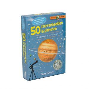 Kaartspel doosje Expeditie Natuur - 50 Sterrenbeelden en planeten