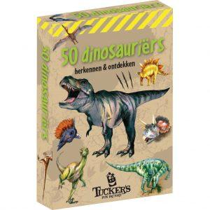 Kaartspel doosje Expeditie Natuur - 50 dinosaurussen