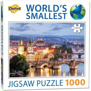 World's smallest puzzel (1000 stukjes) - Prague Bridges