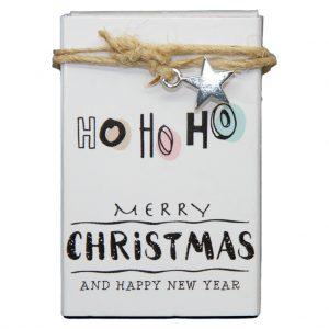 zeepdoosje Ho Ho Ho merry christmas