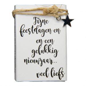 zeepdoosje fijne feestdagen en gelukkige nieuwjaar